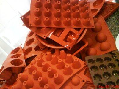 Formas silicone gomas